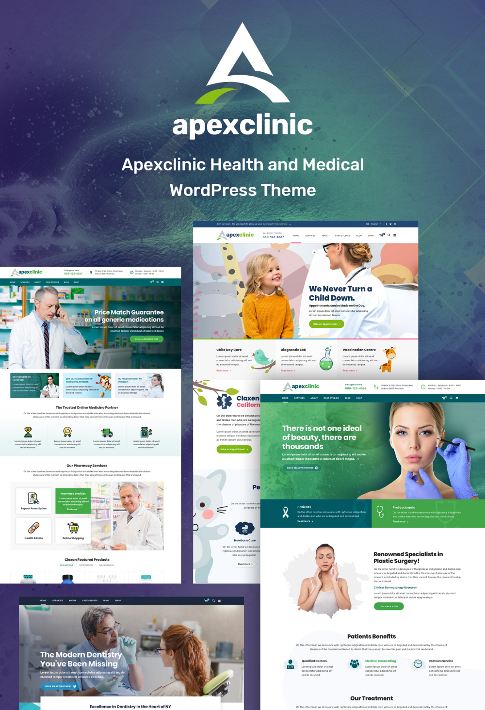 ApexClinic Health & Clinic Theme (With images) Medical