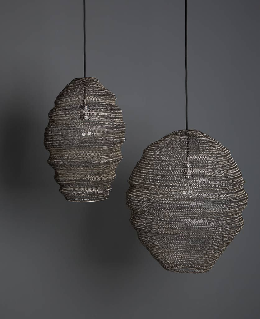 Mesh Light Baya Nest Metal Pendant Lights in Three Colours
