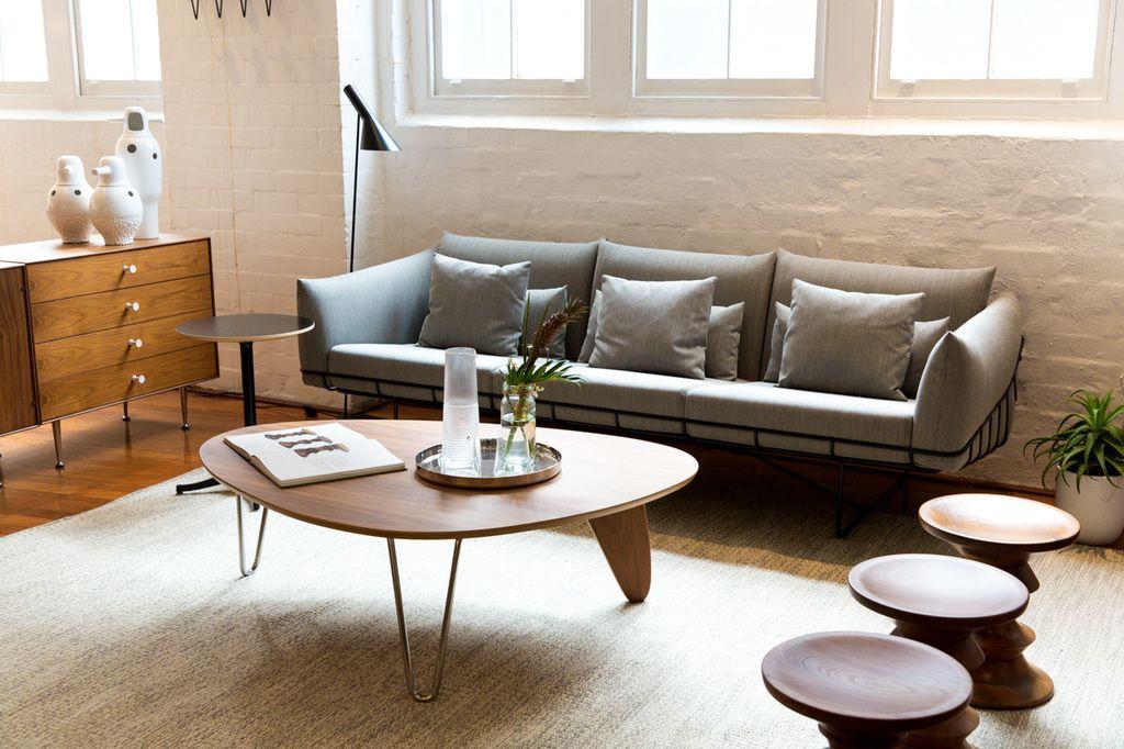 A Bright Vignette   Herman Miller Wireframe Sofa, Noguchi Rudder Table,  Eames Stools U0026