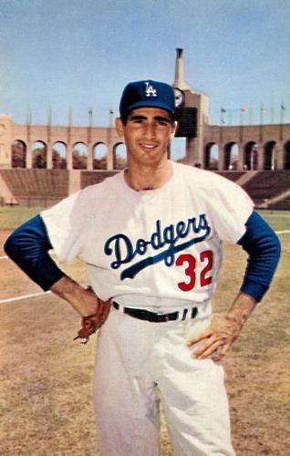 1960 Los Angeles Dodgers Postcards  NNO Sandy Koufax Front  210da298b