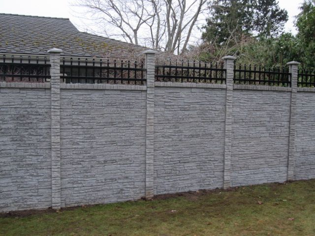 Concrete block or Precast Concrete Fence Walls for the United