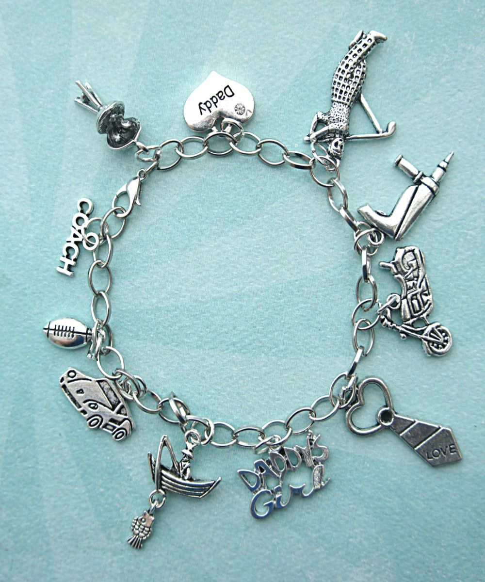 Daddyus girl charm bracelet in bracelet pinterest