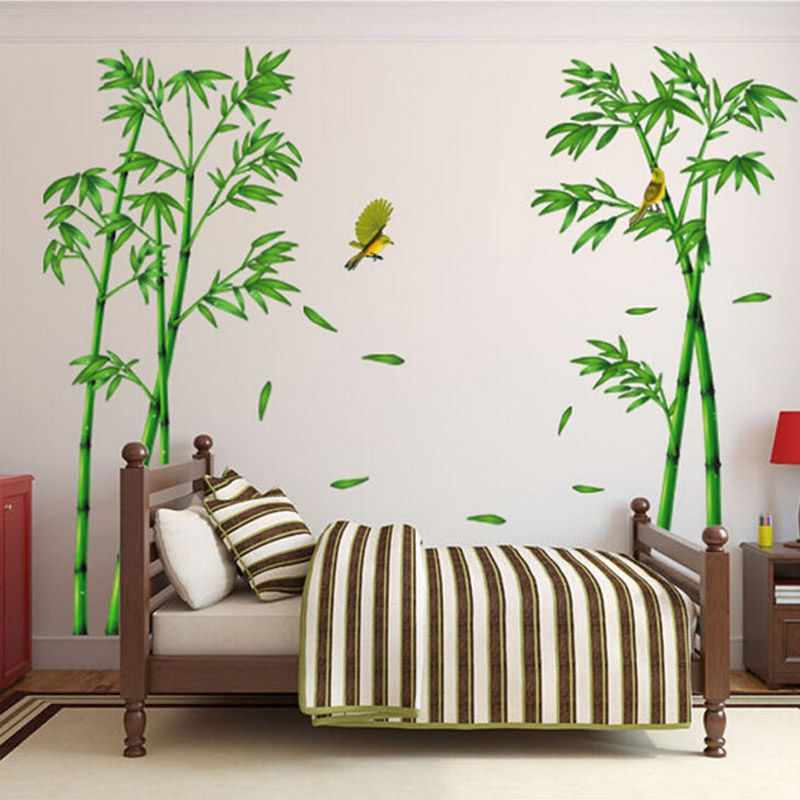 pas cher livraison gratuite 2 pcensemble grand amovible 3d vinyle mur de bambou autocollants dcor la maison stickers muraux adhsif meubles autocollants - Decoration Stickers Muraux Adhesif