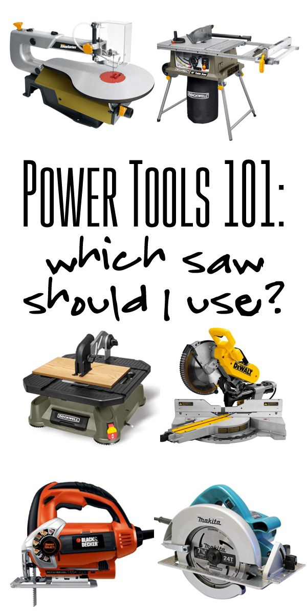 Power Tools 101 Which Saw Should I Use Cool Diy Projects Wood