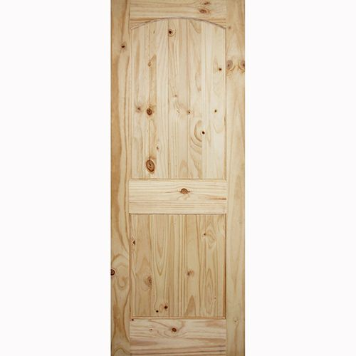 24 X 80 Arch Top 2 Panel Knotty Pine Interior Door Slab Prehung Interior Doors Doors Interior Pine Interior Doors