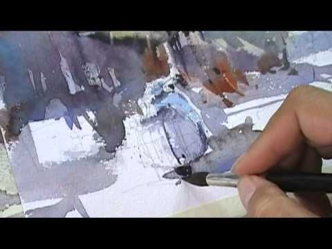 Shop on street : Water color by Direk Kingnok - YouTube