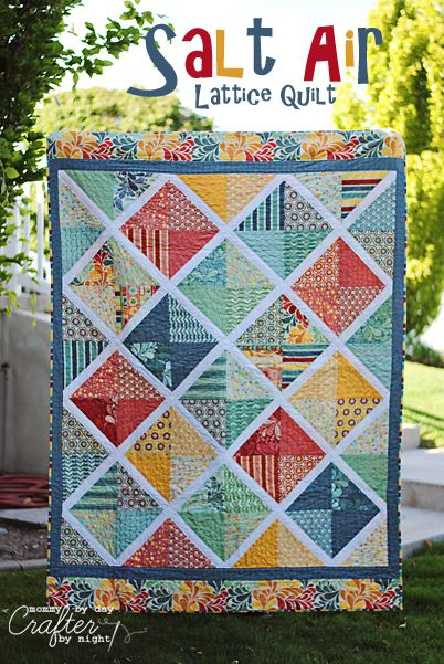 Salt Air Lattice Quilt tutorial