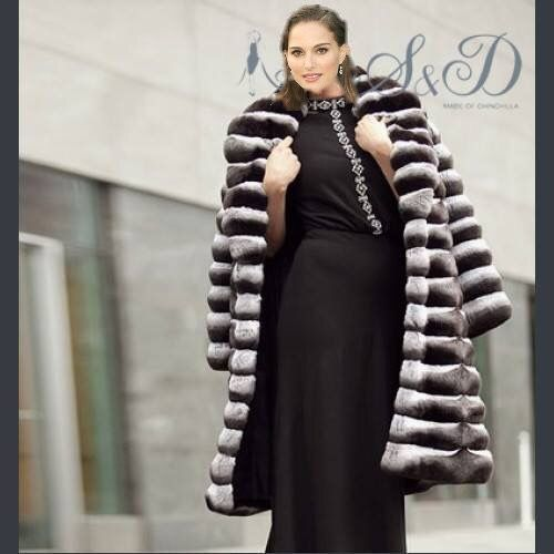 Natalie Portman Fur Fashion Fur Chinchilla Fur