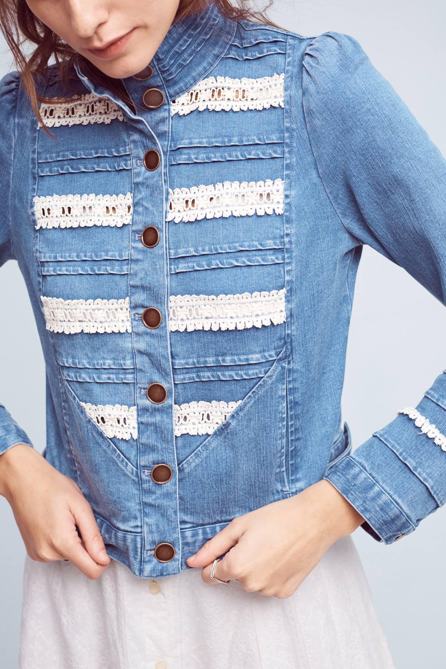 d6d834410 Elizabeth Denim Jacket | Anthro wants | Denim, Fashion, Clothes