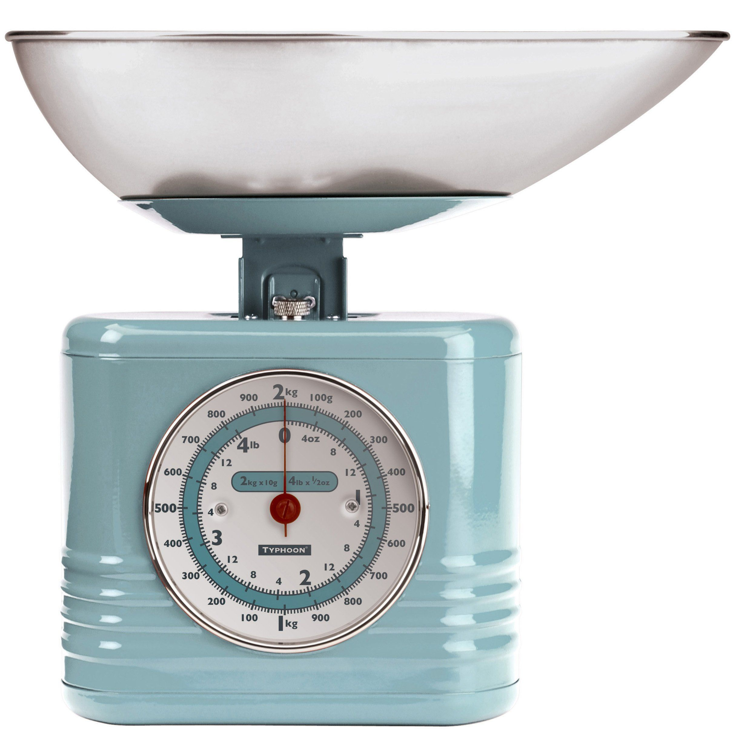 Amazon.com: Typhoon Stainless Steel Vintage Mechanical Kitchen Scale ...