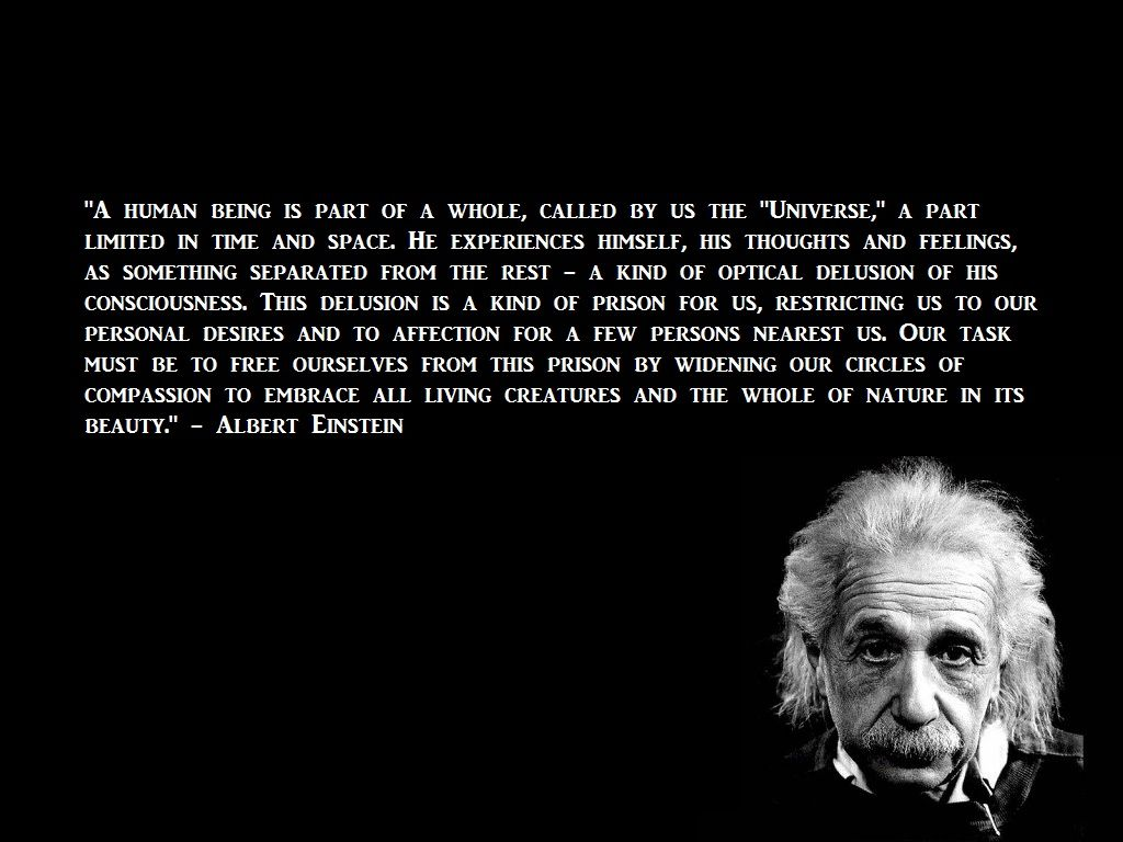 A Human Being Is A Part Of A Whole Called By Us Universe A Part Limited In Time And Space He Experien Einstein Zitate Zitate Von Albert Einstein Einstein