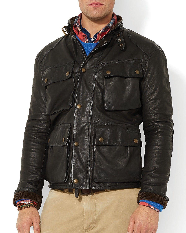 8648258bd Polo Ralph Lauren Southbury Leather Bike Jacket