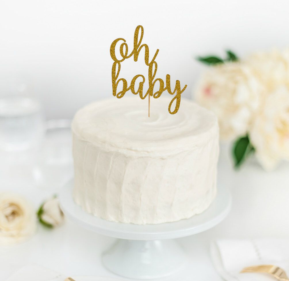 Cake Oh Baby Topper