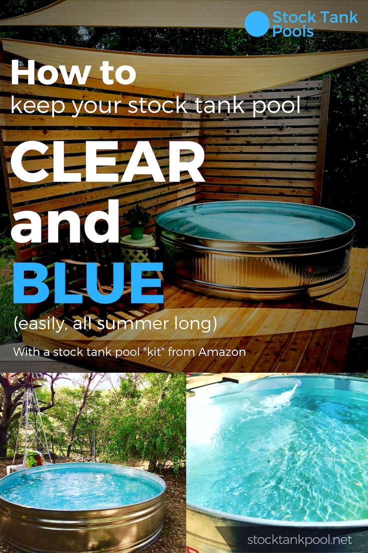The Stock Tank Pool Kit Four Essential Items To Keep Your Stock Tank Pool Clean Clear And Blue All Summer Stock Tank Pool Tips Kits Inspiration How T Stock