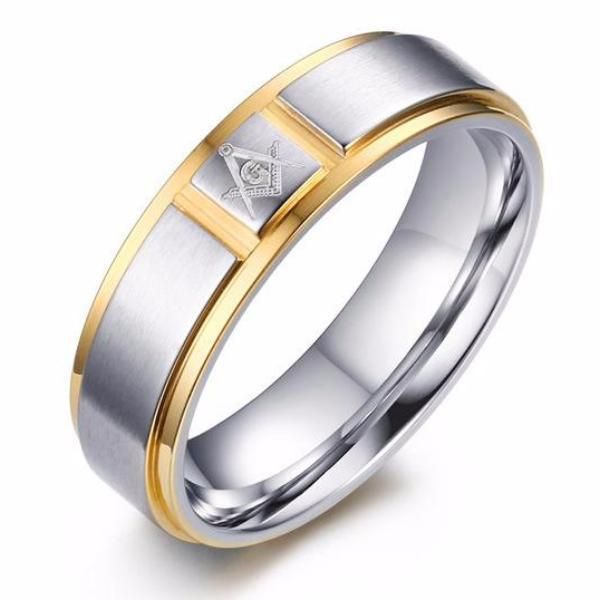 Cartier Gold Silver Masonic Ring