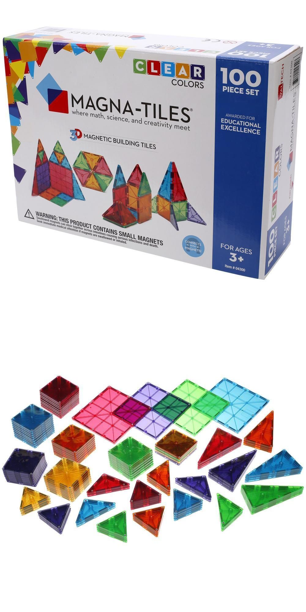 Building Toy Sets And Packs 258040 Magna Tiles Clear Colors 100 Piece Building Set Buy It Now Only 89 On Magna Tiles Magnetic Building Tiles Plan Toys
