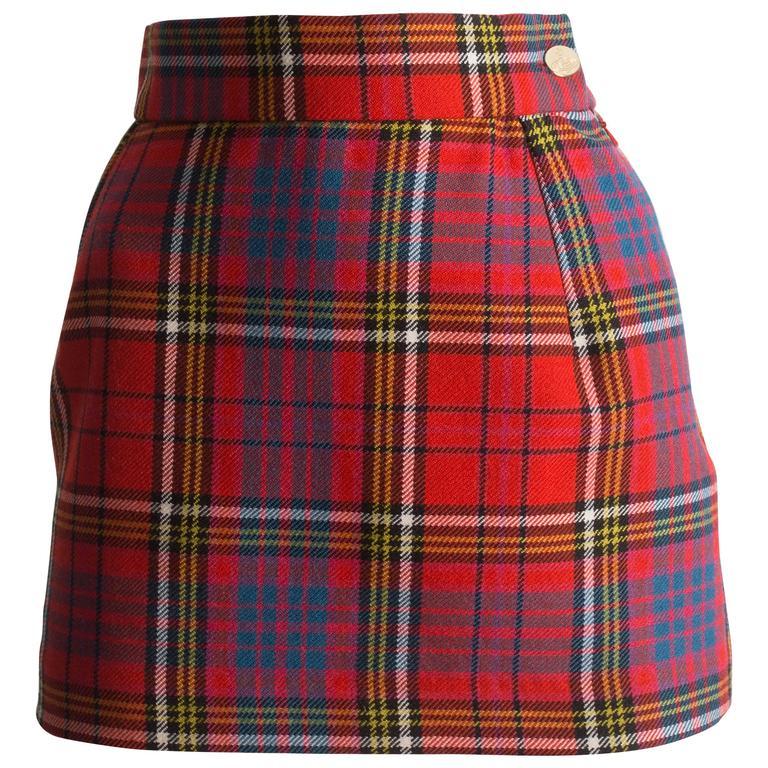 e15a79207b Vivienne Westwood Tartan Wool Mini Skirt, Circa 1993 1 Tartan Mini Skirt,  Wool Mini