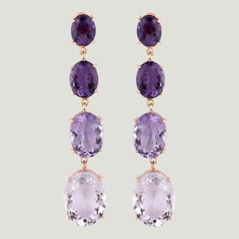 with amethyst of pasquale small stone shape big in bruni pin earrings stones the and