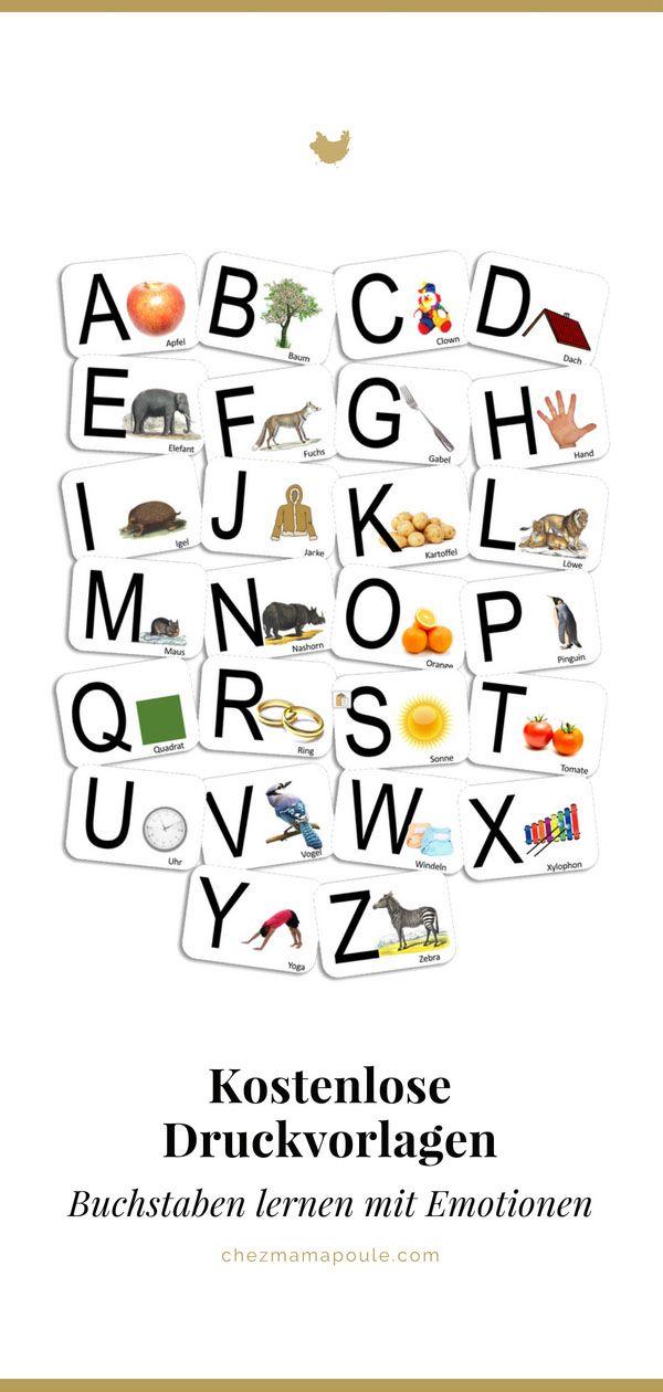 DIY Buchstaben lernen mit persönlichen Karten (inkl