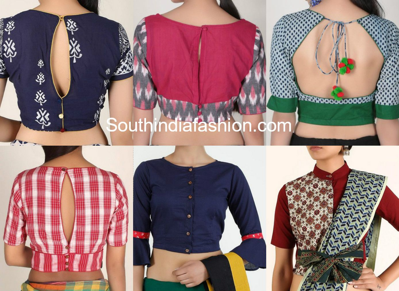 0b8f4e95bd4269 Cotton Saree Blouse Designs For Stylish and Trendy Look | Blouses ...