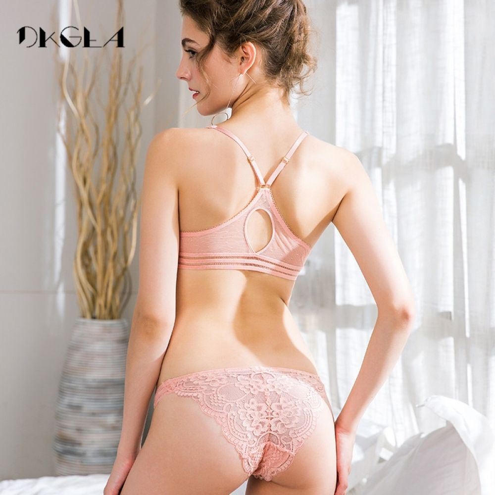 41ce513d676 Europe Pink Women Underwear Set Sexy Ultrathin Front Closure Bra and Panties  Sets Embroidery Lingerie Set Lace Black Brassiere Price  23.76   FREE  Shipping ...
