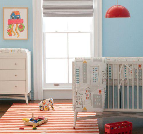 Cute room for a city baby ♥ Skyline #Baby #Nursery Babies