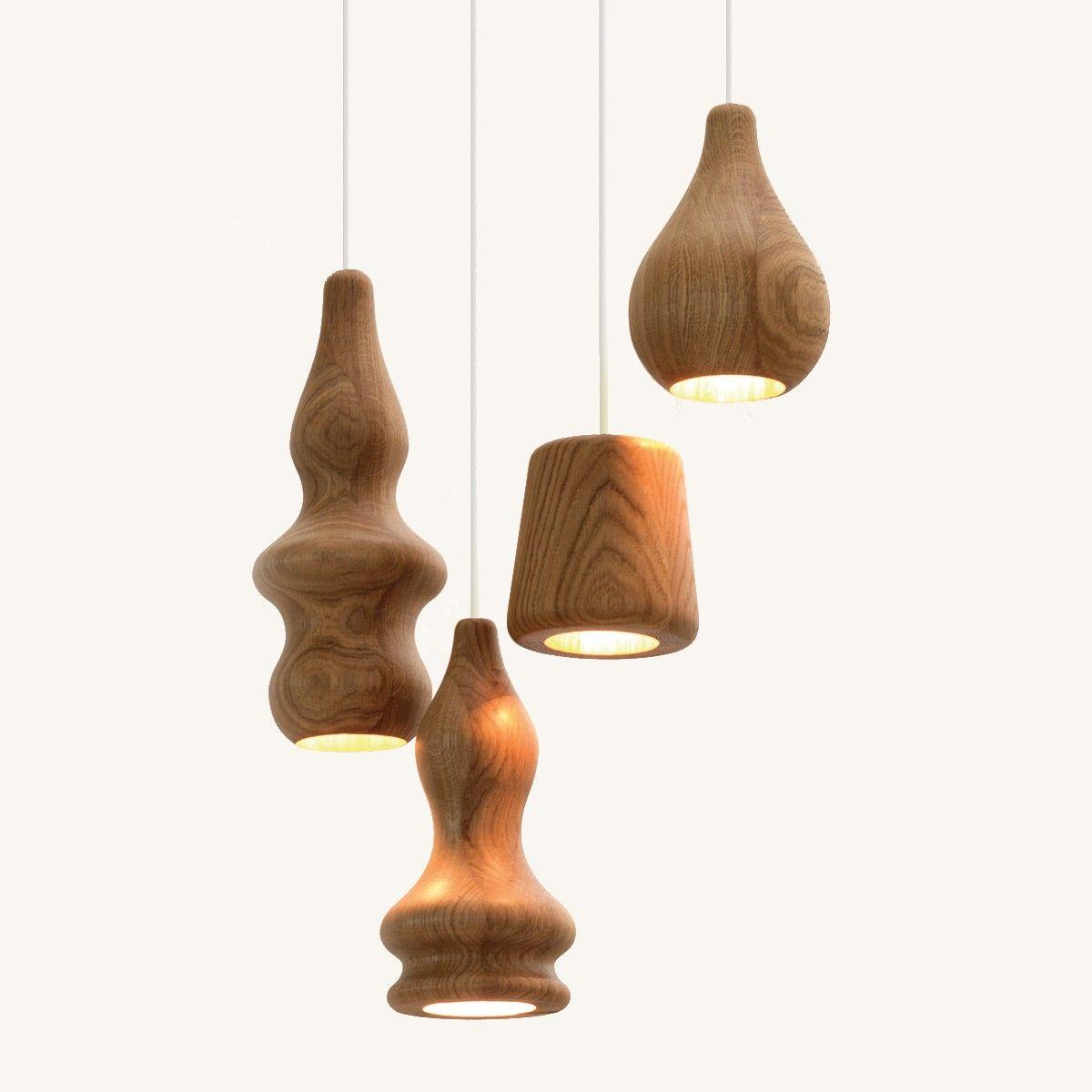Suspension Design Bois Bulb 1 Lampe Bois Lampes Modernes Suspension Design