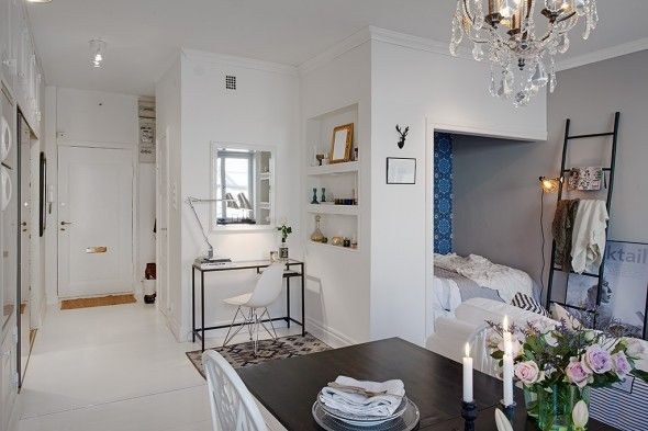 Amazing Use Of Space In A 36 Square Meters Apartment Small Apartment Decorating Small Appartment Small Apartments
