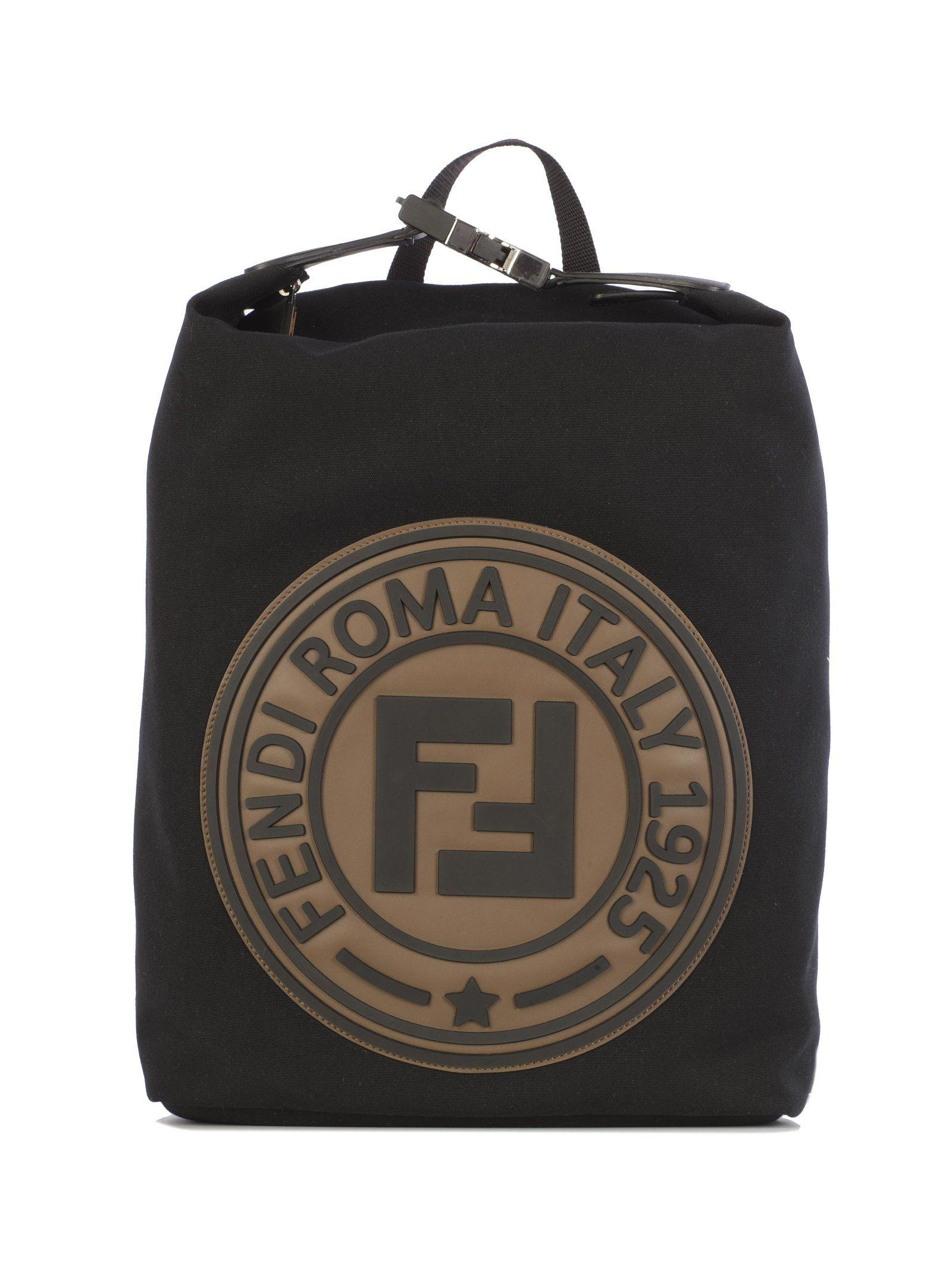 9bba518acc98 FENDI FENDI LOGO BACKPACK.  fendi  bags  leather  polyester  backpacks