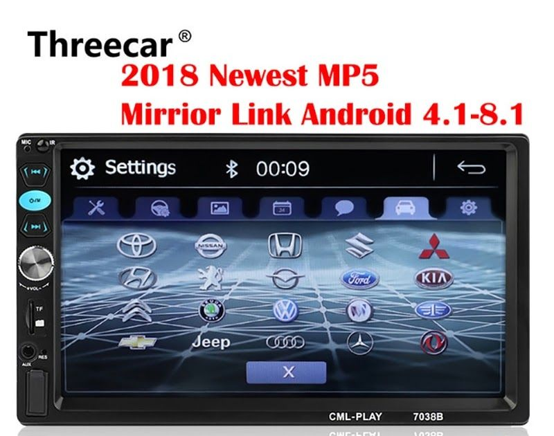 On Sale 2din Car Radio 7 inch Touch mirrorlink Android