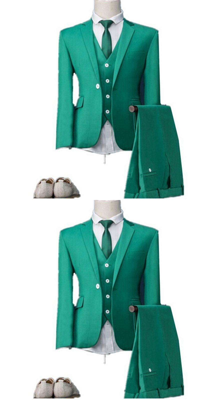 New Arrival Custom Made Groom Tuxedos Groomsmen Notch Lapel Men Prom ...