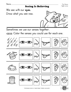 Common Worksheets » The 5 Senses Worksheets - Preschool and ...