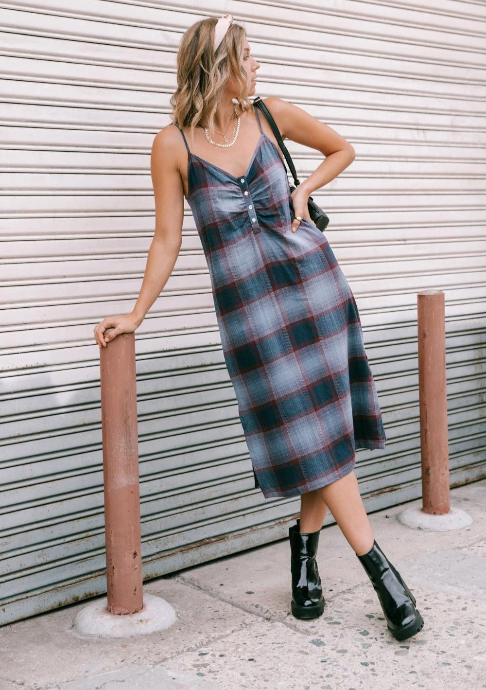 Mad For Plaid Midi Dress Lovestitch In 2021 Midi Dress Sleeveless Midi Dress Dresses [ 1419 x 1000 Pixel ]