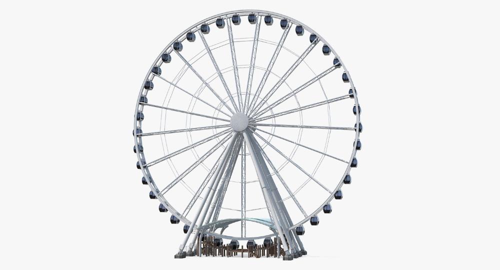 Seattle Great Ferris Wheel 3d Turbosquid 1398434 Ferris Wheel Ferris Giant Ferris Wheel