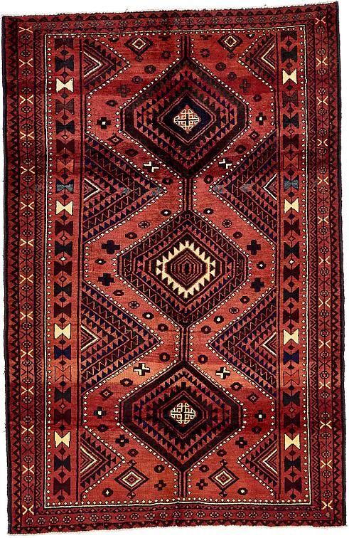 Plum Red 5 39 6 X 8 39 5 Shiraz Persian Rug Persian Rugs Esalerugs Rugs Persian Rug Persian