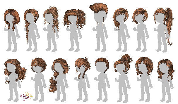 Pixel Hair Tutorial By Sakechyan Pixel Art Tutorial Hair Tutorial Tutorial