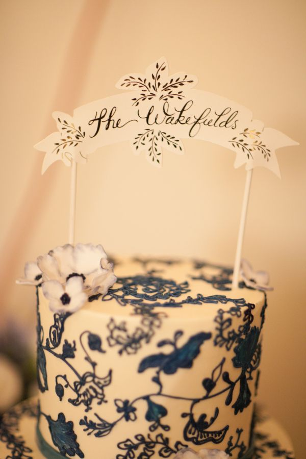Blue and White Wedding Cake | Cake | Pinterest | White wedding cakes ...