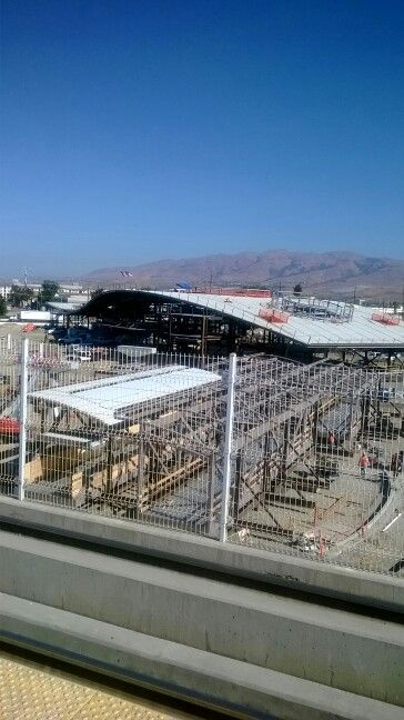 BART Milpitas Station-Montague Light Rail Station Transfer Tunnels construction