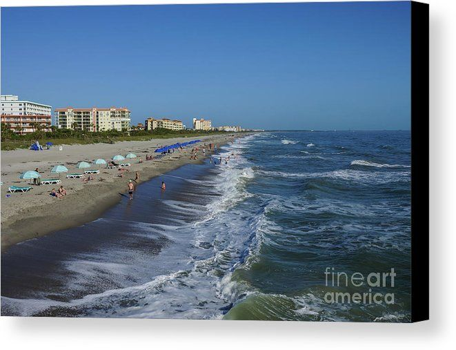 The Beautiful Cocoa Beach Florida From Famous Pier Available In High Quality Prints Framed Canvas Posters Home Goods