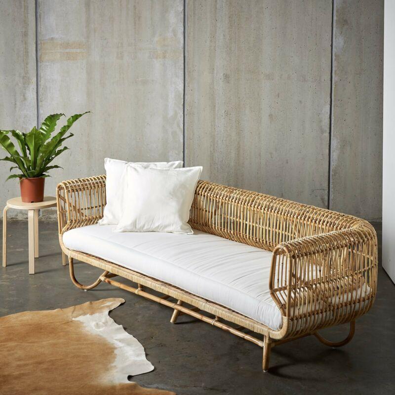 3 Seater Cane Lounge New Sofas Gumtree Australia Inner Sydney Newtown 1217303316 Pool Furniture Furniture Outdoor Wicker Furniture