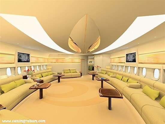 Airbus A350 With Bmw Designed Interior Ceiling Design Private