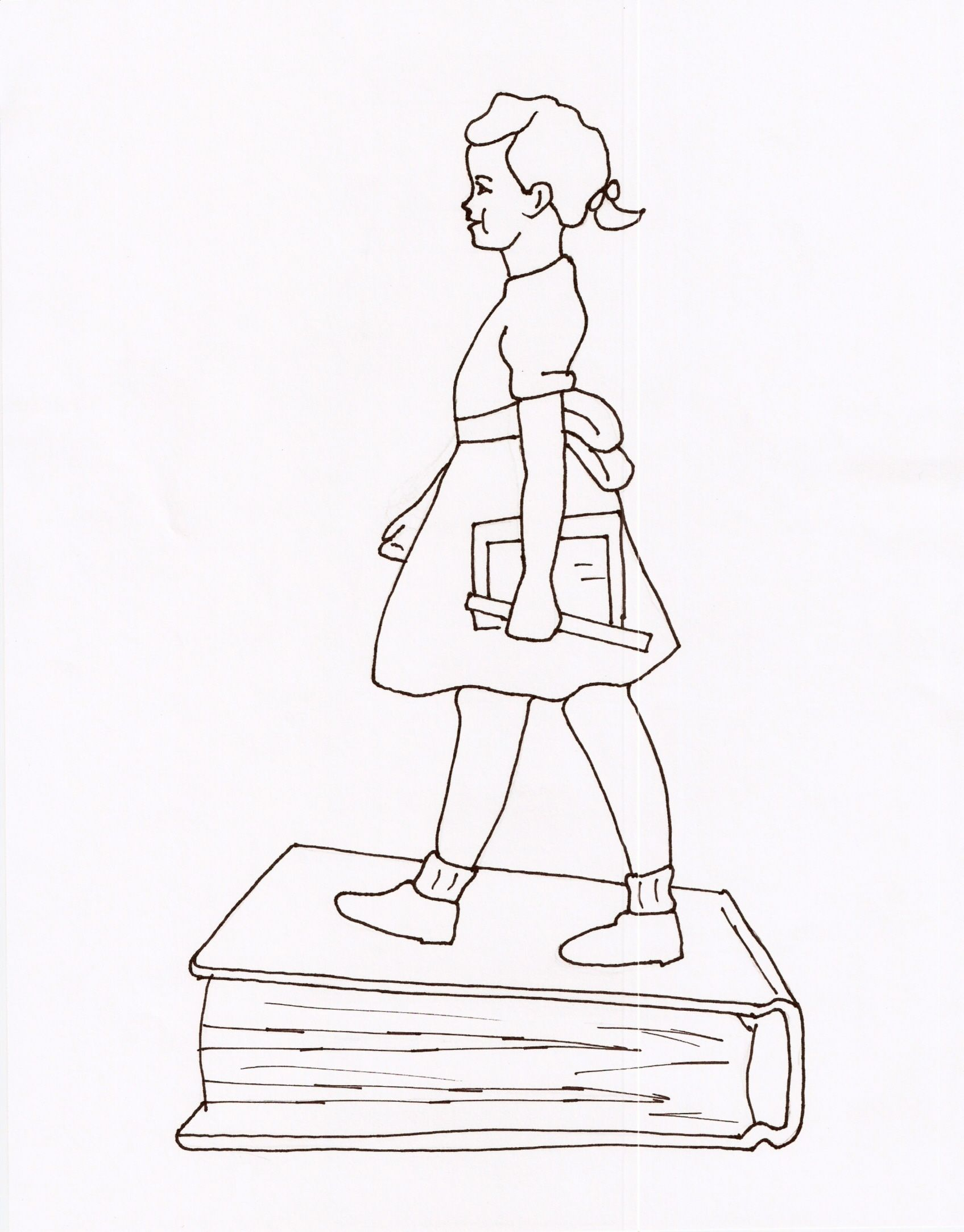 Ruby Bridges Goes To School By Ruby Bridges Coloring Page