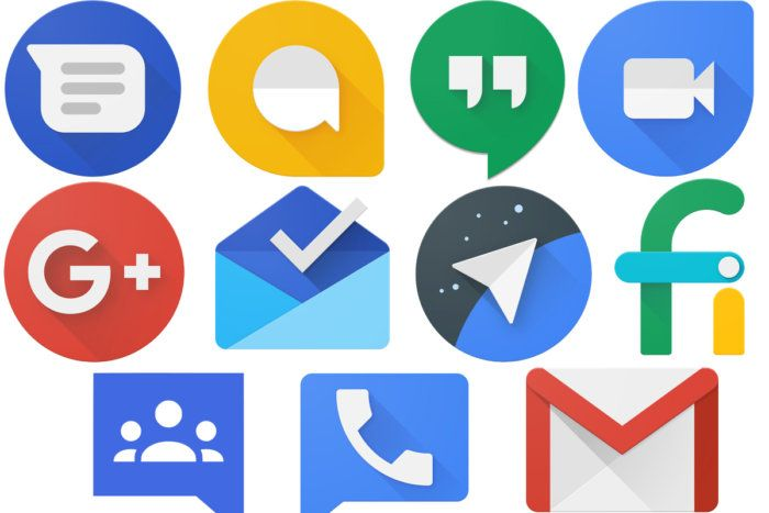 Google messaging apps and services logos Instant