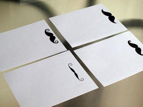 Mustache Note cards. AllJust4You on Etsy