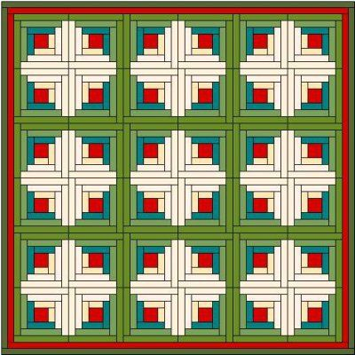 Log Cabin Quilt Block | Log cabin quilts, Log cabins and Cabin : log cabin quilt square - Adamdwight.com