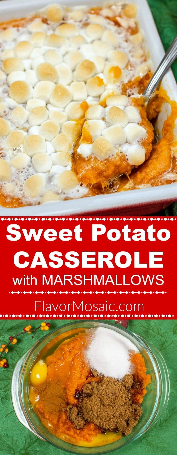 Sweet Potato Casserole with Marshmallows For Thanksgiving #sweetpotatocasserolewithmarshmallows