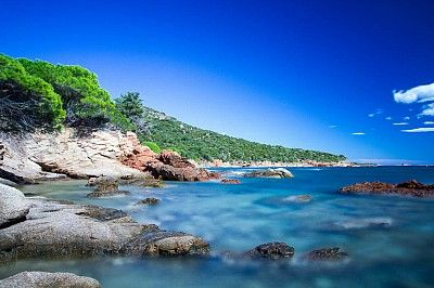 Beach at Palombaggia, Corse. Is supposed to be the most beautiful beach on Corse.