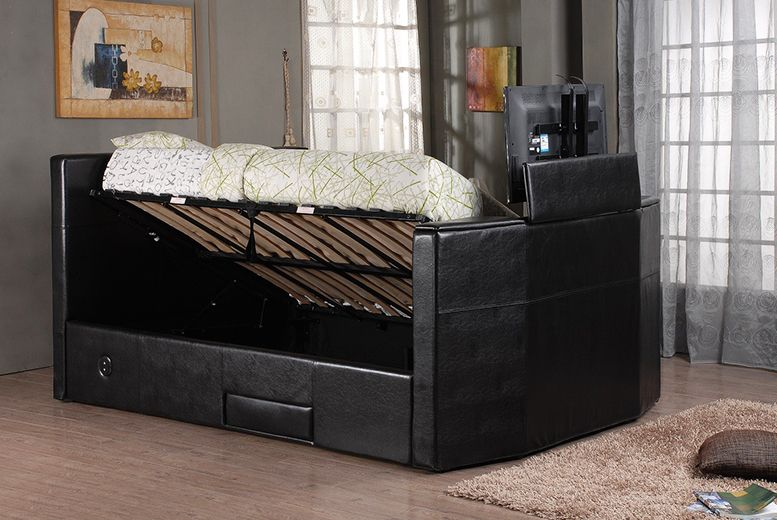 TV Bed with Built-in Bluetooth Sound System - Double or King ...