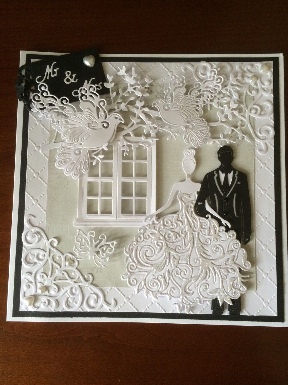 my make using tattered lace bella  george dies  wedding