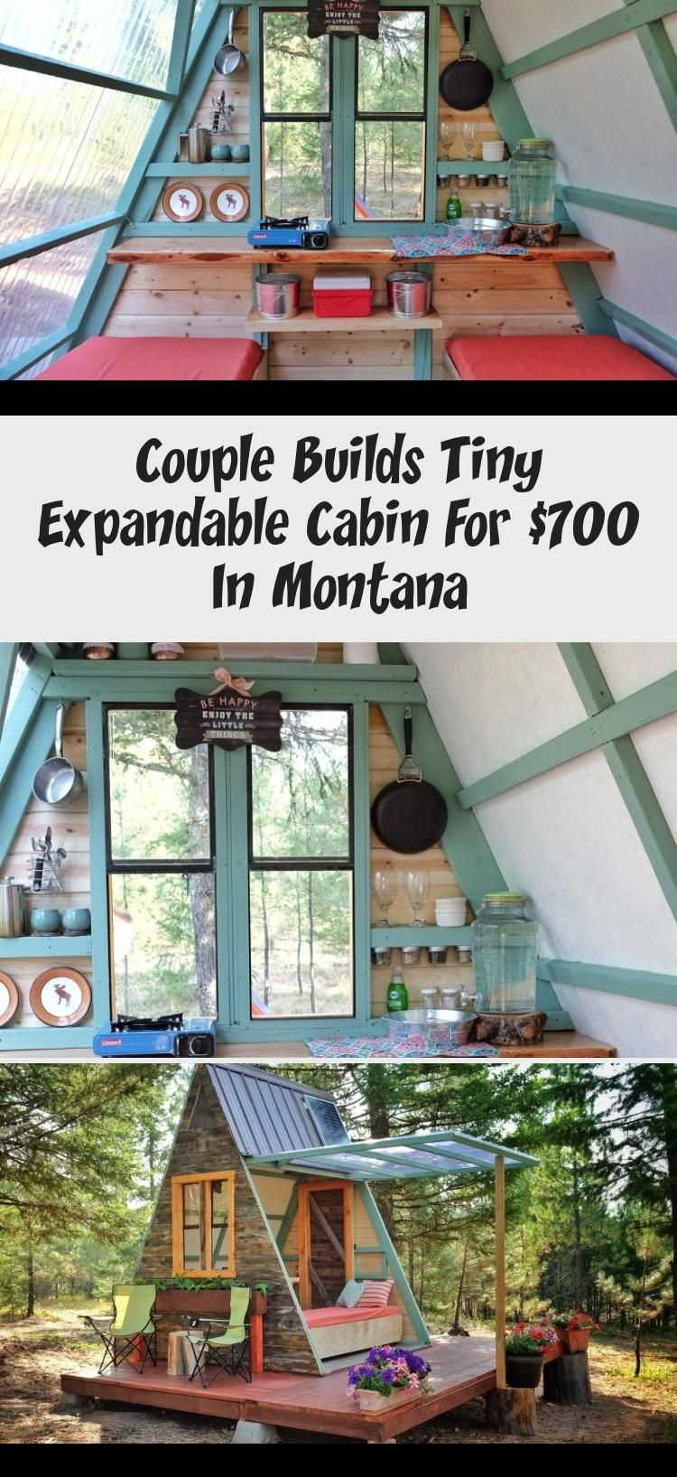Couple Builds Tiny Expandable Cabin For $700 In Montana Minnesotean couple builds tiny expandable cabin for $700